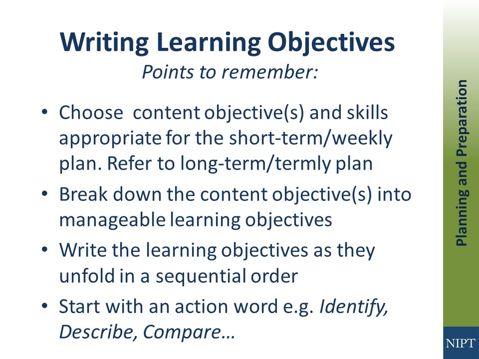 write around learning strategy objective