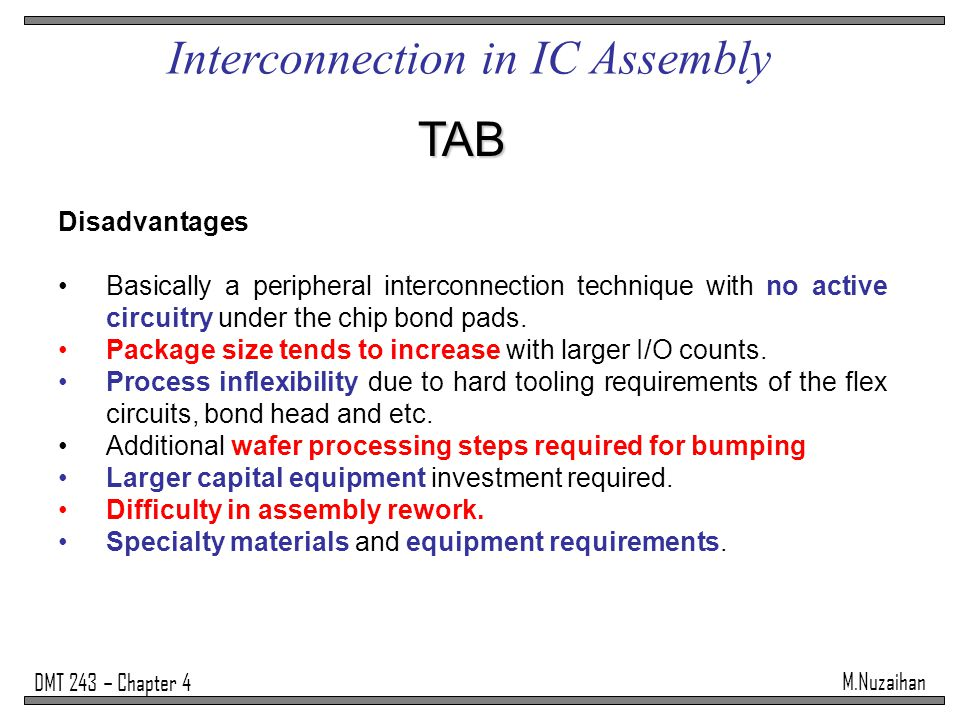 Interconnection in IC Assembly