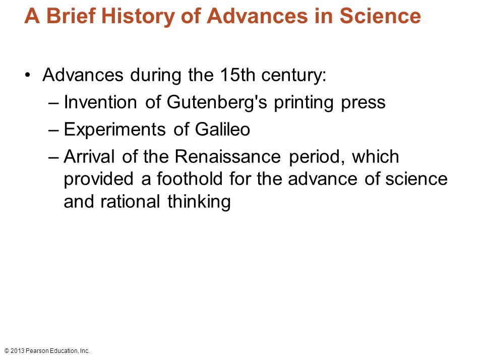 an introduction to the history of the advancements in science Introduction to materials science and engineering department of metallurgical & materials engineering development and advancement of human societies- history of materials science.