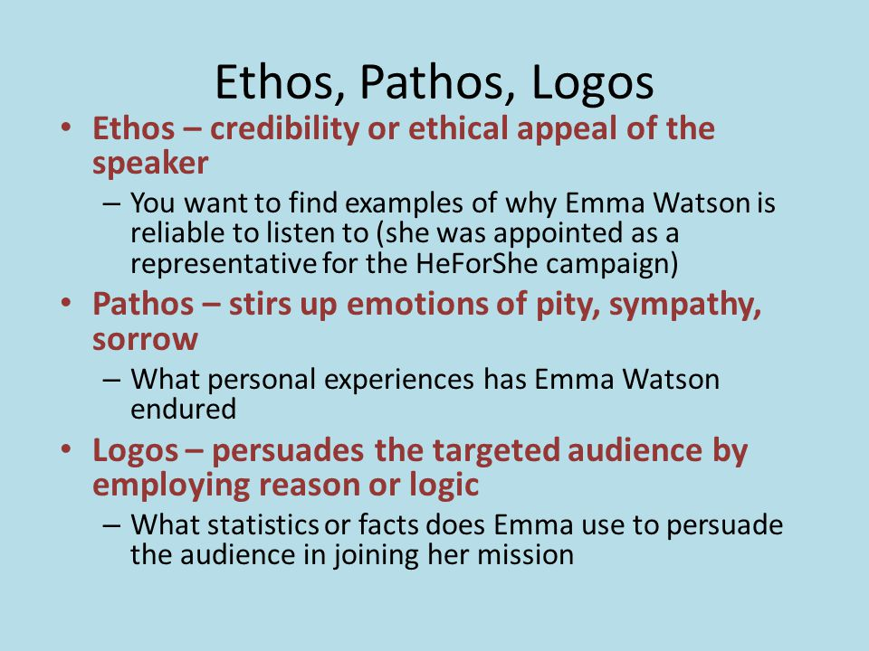 ethical appeal examples