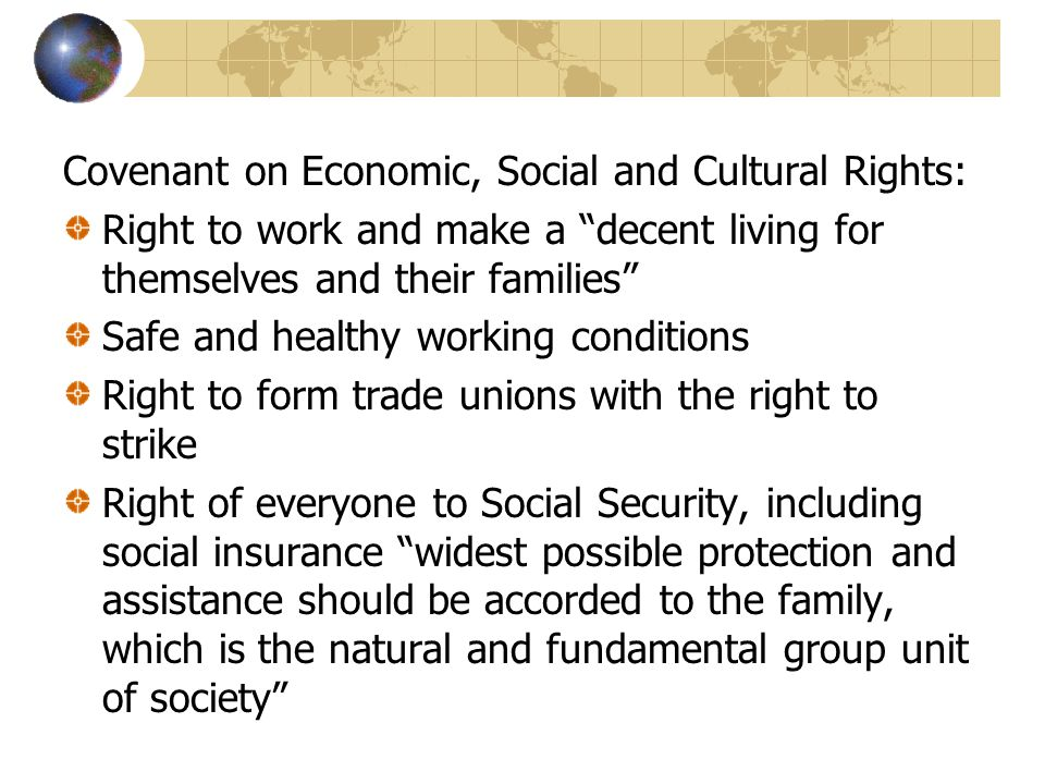 Covenant on Economic, Social and Cultural Rights: