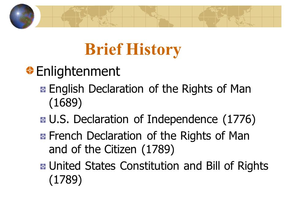 Brief History Enlightenment