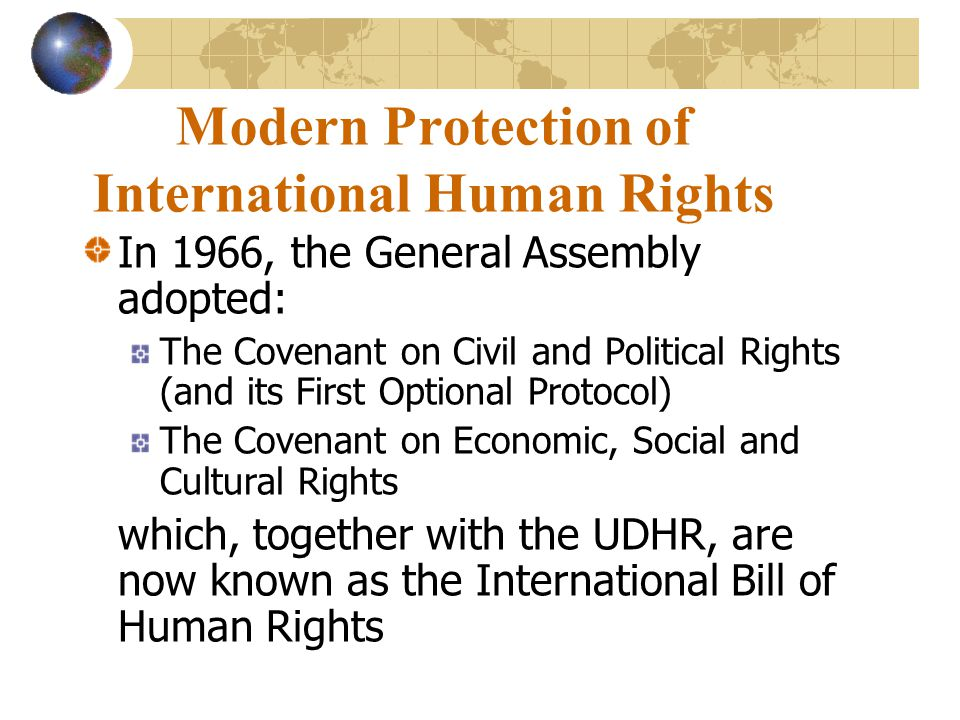 Modern Protection of International Human Rights