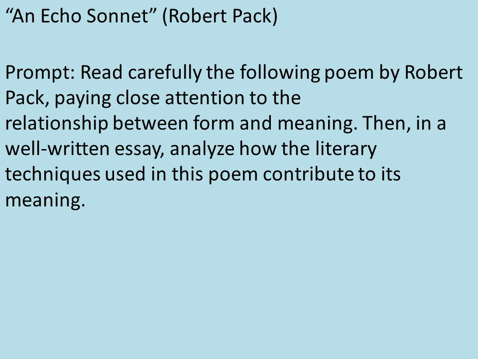 the sonnet form and its meaning The petrarchan sonnet is a sonnet form not developed by petrarch himself, but rather by a string of renaissance poets because of the structure of italian, the rhyme .