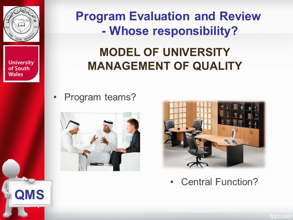 Program Evaluation and Review - Whose responsibility