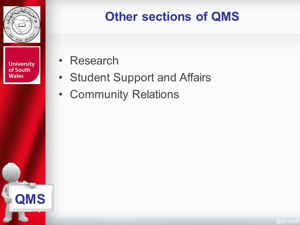 QMS Other sections of QMS Research Student Support and Affairs
