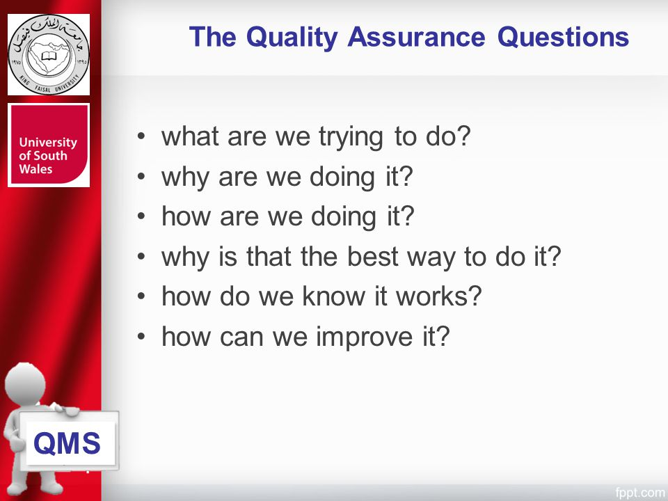 The Quality Assurance Questions