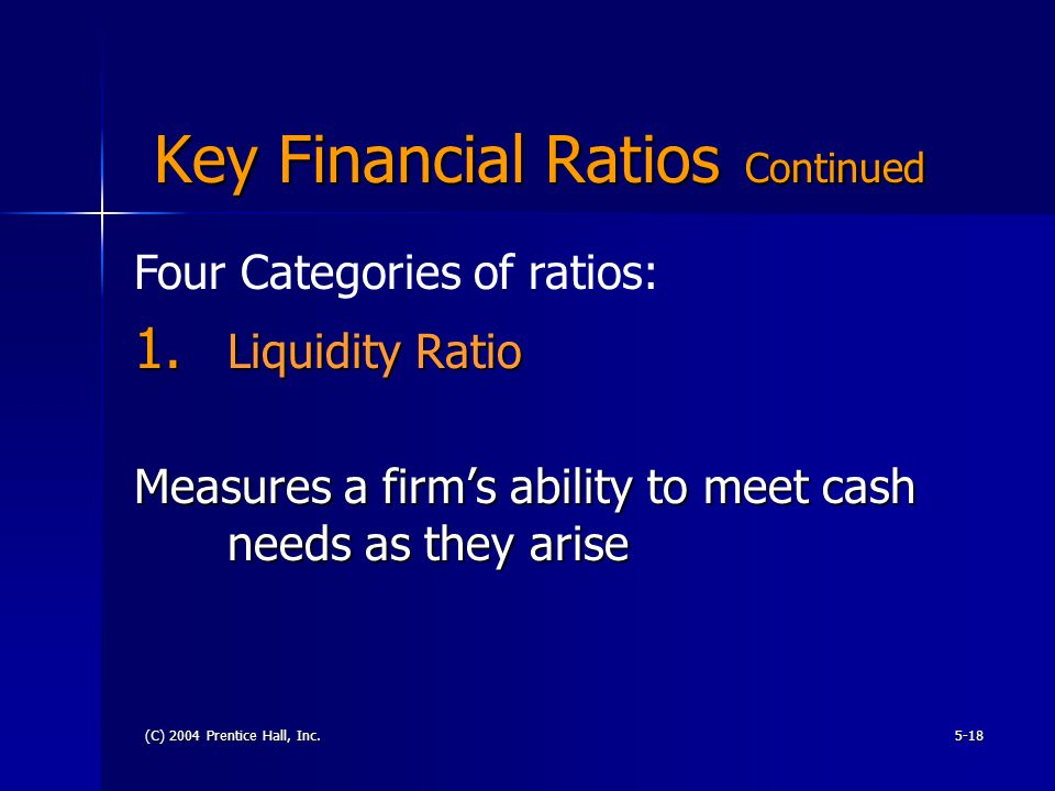 key financial ratios After exhaustive analysis, the report distilled six key financial metrics that   higher leverage (measured by their ratio of debt to ebitda) than the.