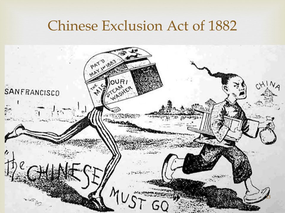 chinese exclusion act 1882 essay Historical essay by leon alkanli, nicholas tie, max the chinese exclusion act of 1882 prohibited chinese immigration into america and denied the chinese the right.