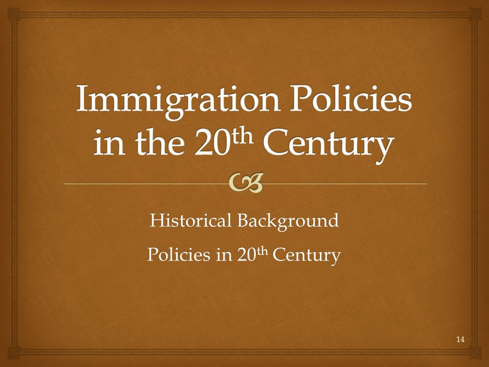 United States Immigration Policy in the Early 20th Century