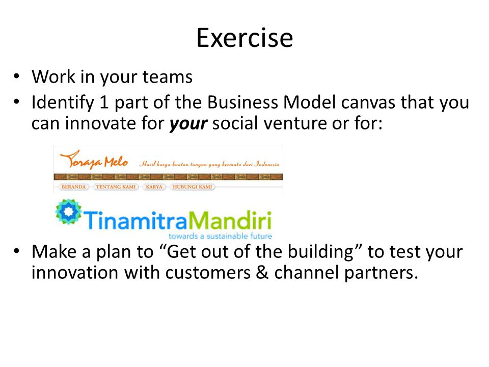 20 Exercise ...  sc 1 st  SlidePlayer & Gear Up: Test Your Business Model Potential - ppt video online download