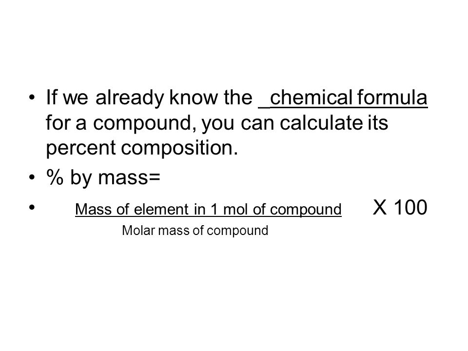 Mass of element in 1 mol of compound X 100