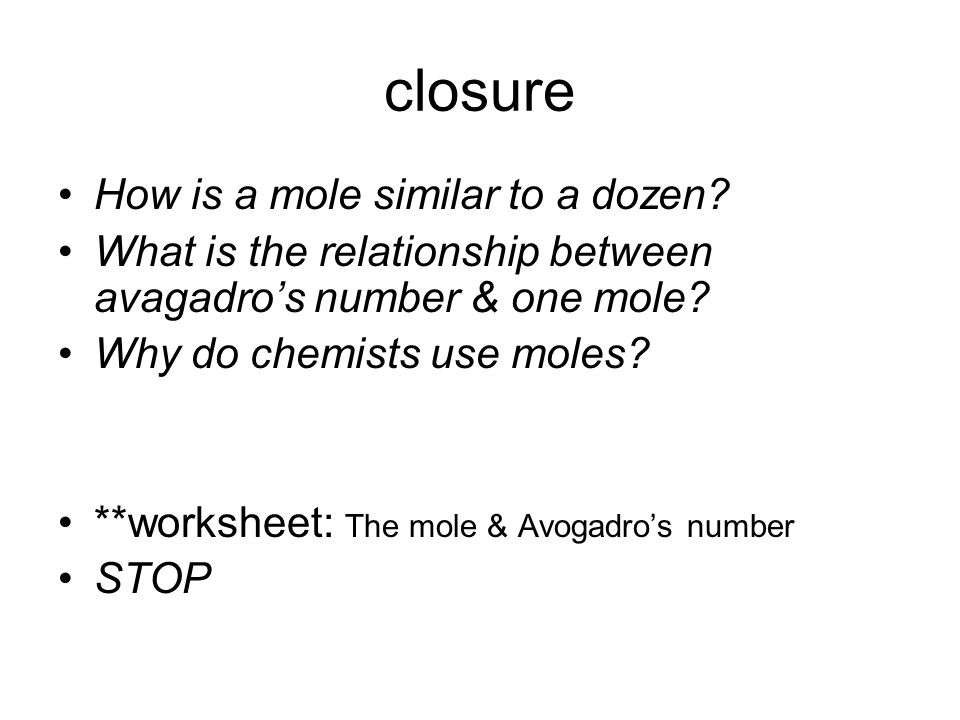 Ch 11 The Mole ppt video online download – Mole Worksheet