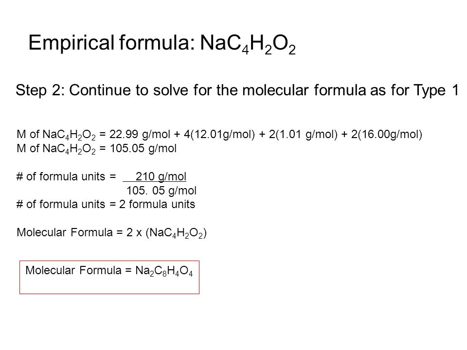 how to solve molecular formula problems
