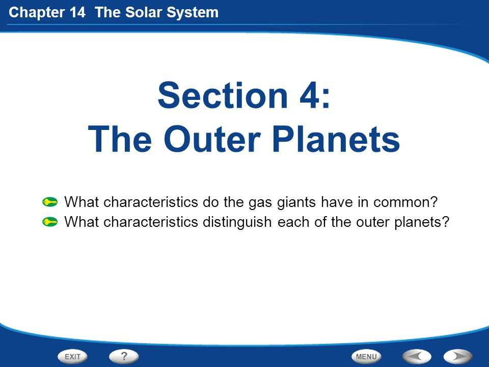 the characteristics of neptune the outermost gas giant in the solar system Four gas giant outer planets the kuiper belt and compositional distribution and orbital characteristics of all solar system bodies based on astronomical observations and evidence by the plasma envelope of the heliosphere sustained by the solar wind at home in the solar system.