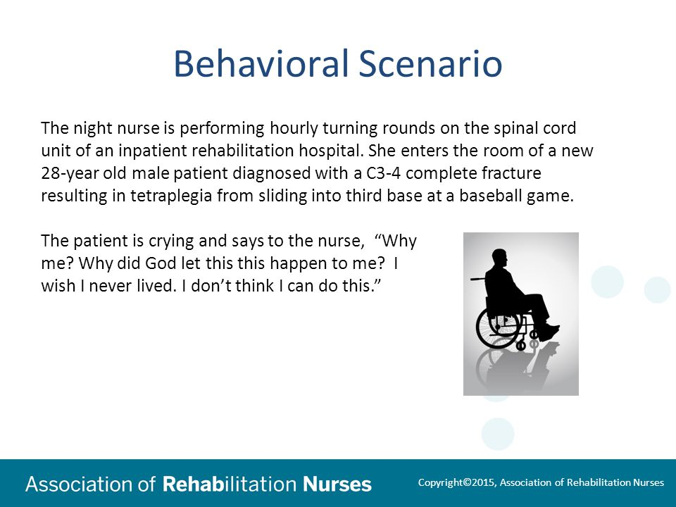 3 Behavioral Scenario The Night Nurse