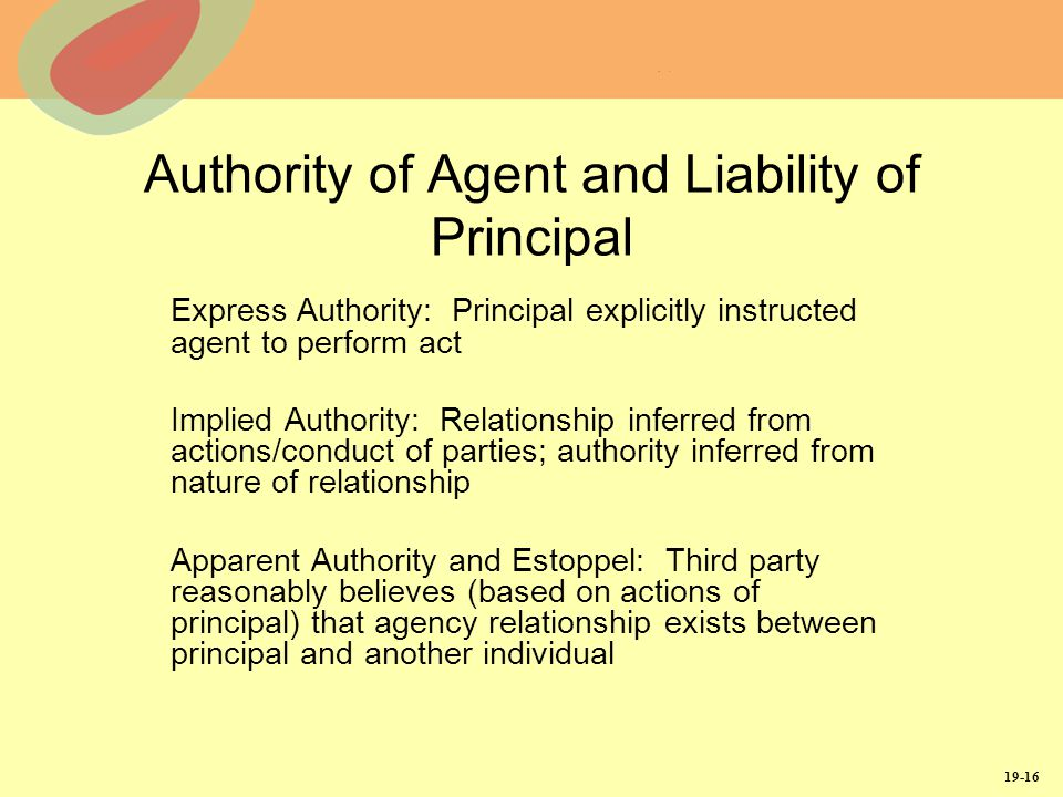 proof of agency relationship and liability