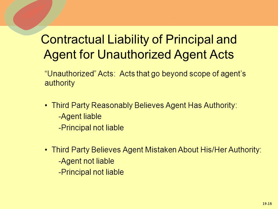 agent agency relationship and liability