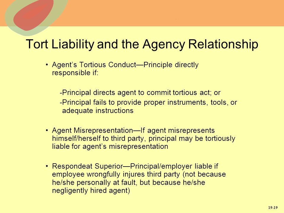principal vs agency relationship and liability