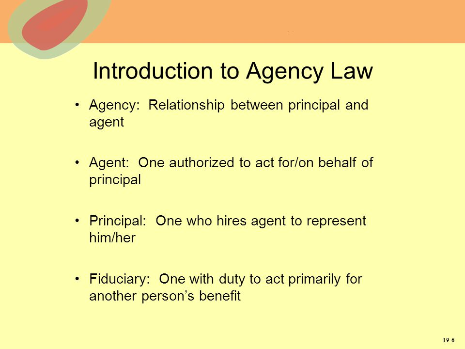 is a power of attorney and agency relationship
