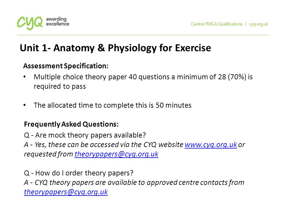 Excepcional Level 3 Anatomy And Physiology Mock Exam Answers ...