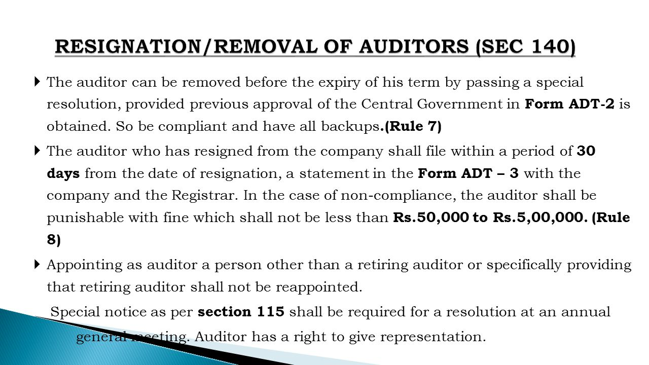 removal of auditor How we can remove auditor in the pvt ltd company kindly let me know it is very urgent - pvt ltd.