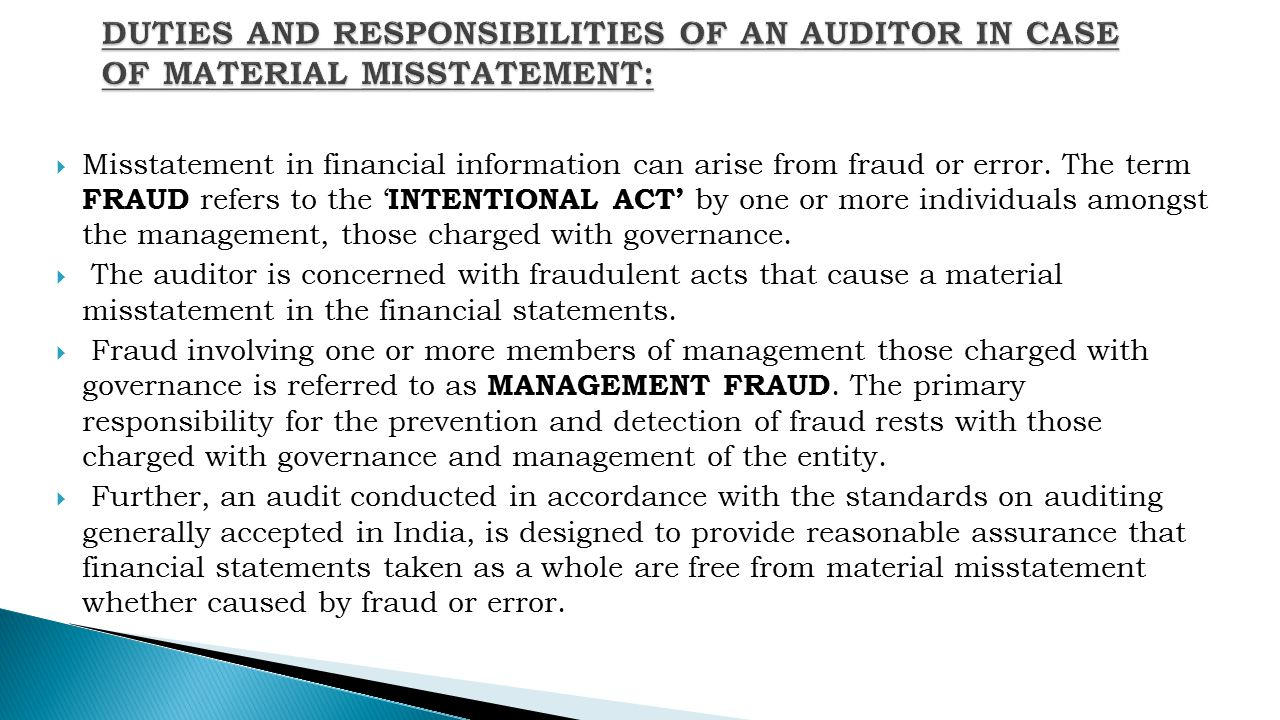 25 duties and responsibilities of an auditor