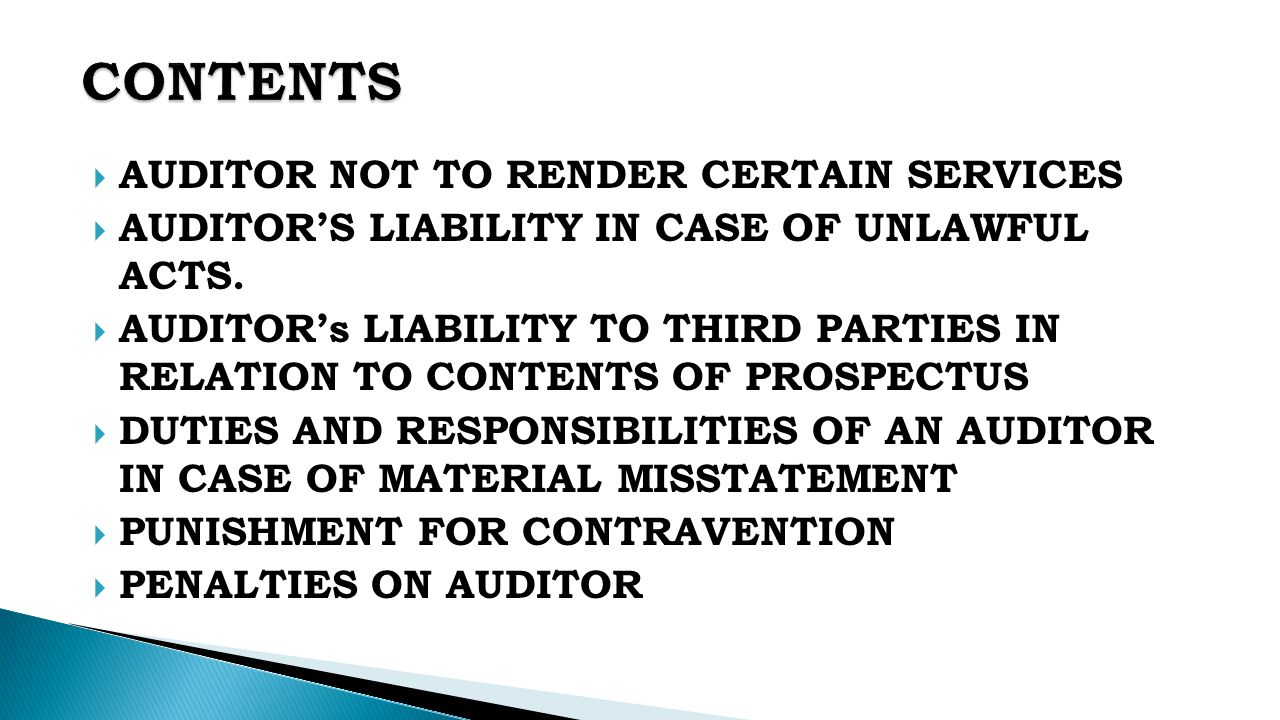 Liability to Third Party