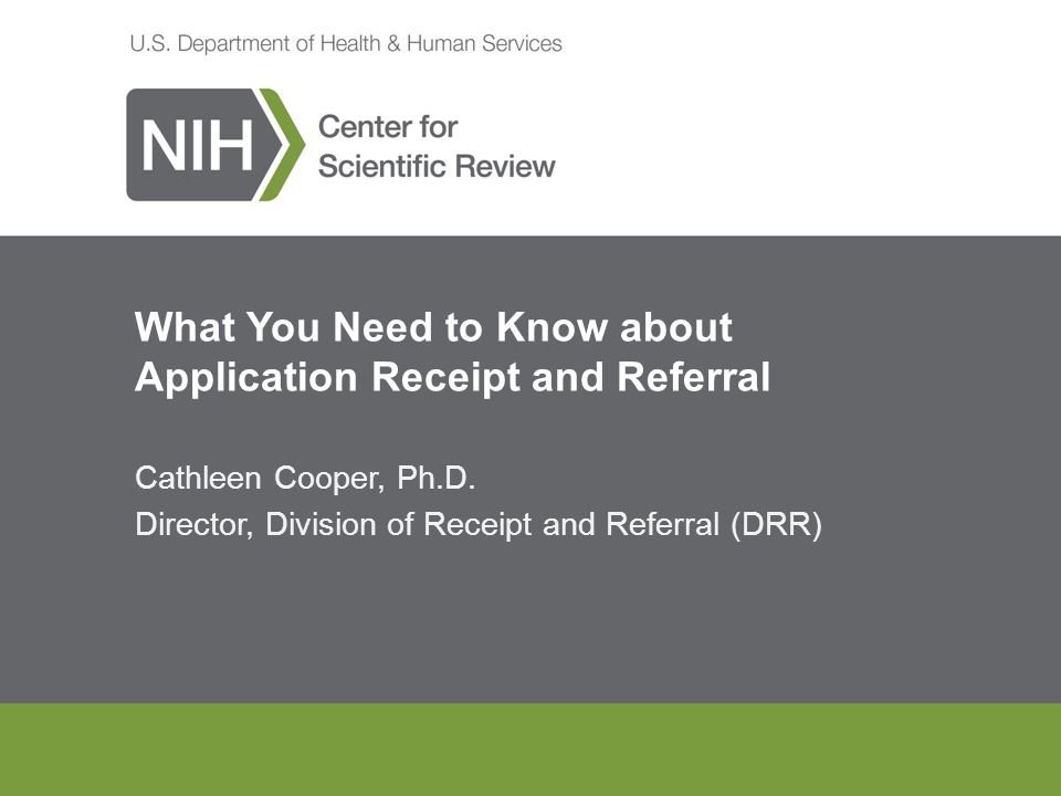 what you need to know about application receipt and referral ppt