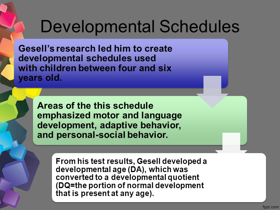 Arnold gesell father of child development ppt video for Motor and social development of a 7 year old