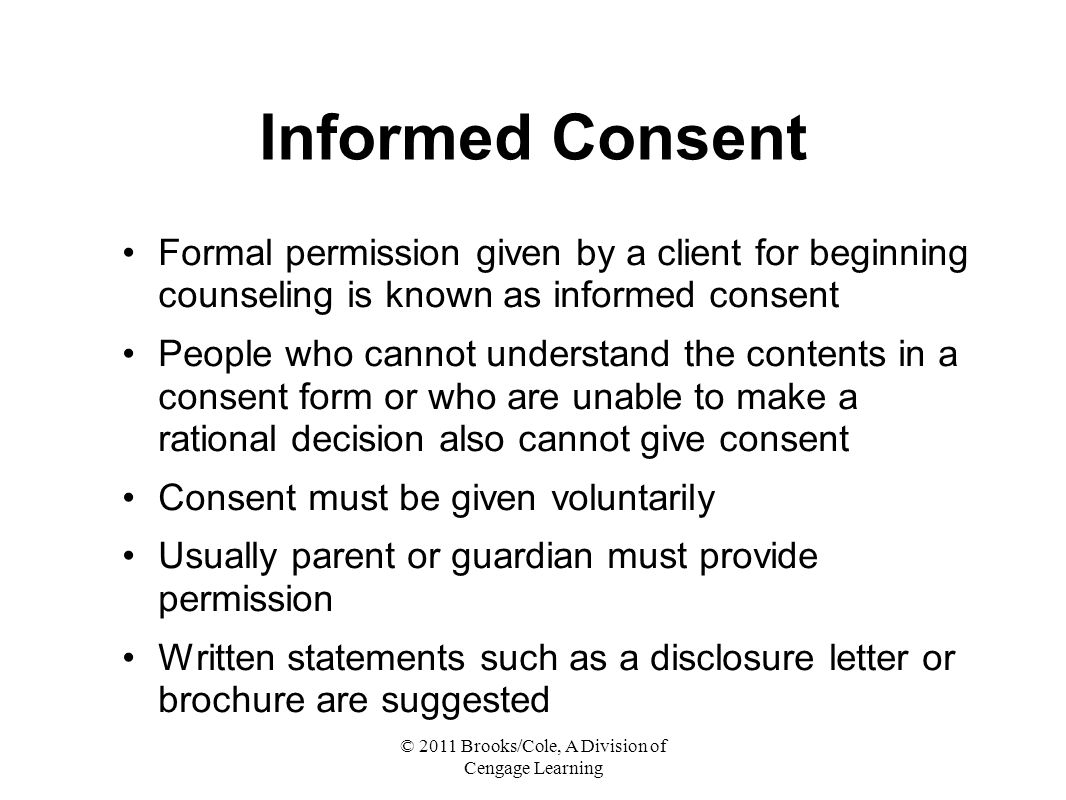 landmark cases on counseling and informed consent Supreme court reaffirms landmark informed-consent ruling in make an informed decision regarding a medical proce- the arndt case.