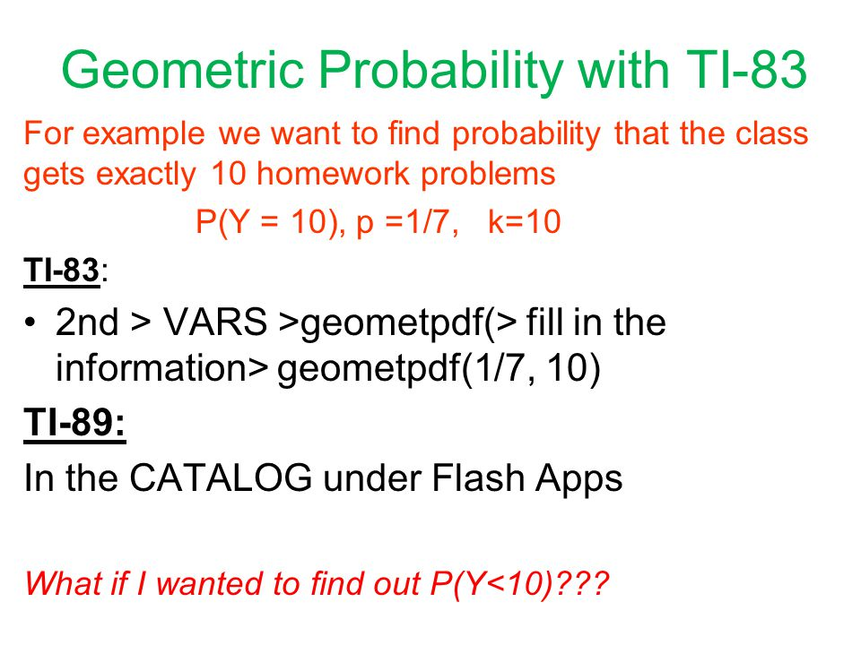 Binomial Geometric Random Variables ppt download – Geometric Probability Worksheet