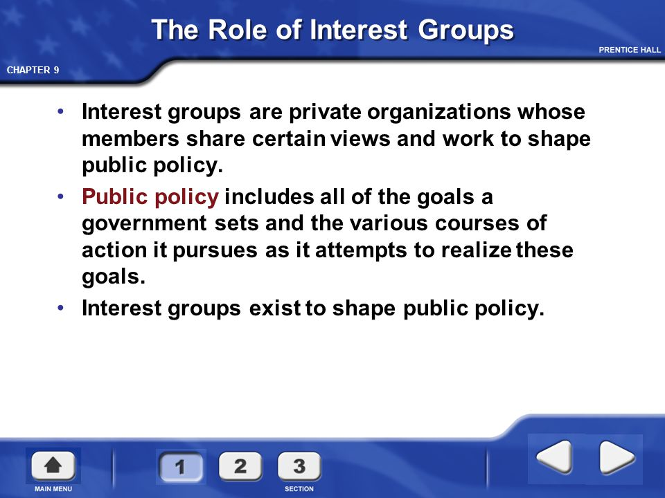 The Role of Interest Groups