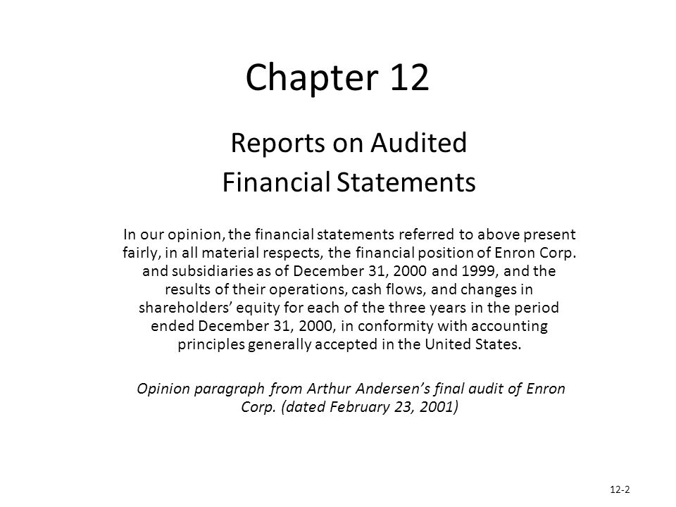 andersens case auditing and assurance services Case analysis 1-edited  to provide different audit and assurance services thus,  arthur andersens' auditors who were not assigned to audit the financial.