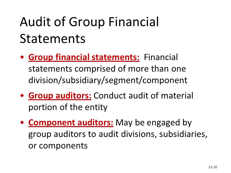 auditing group assignment final Minor auditing assignment using suncorp ltd as a case study for risk  economy finance banks of australia money suncorp group insurance 2010–11 queensland floods.