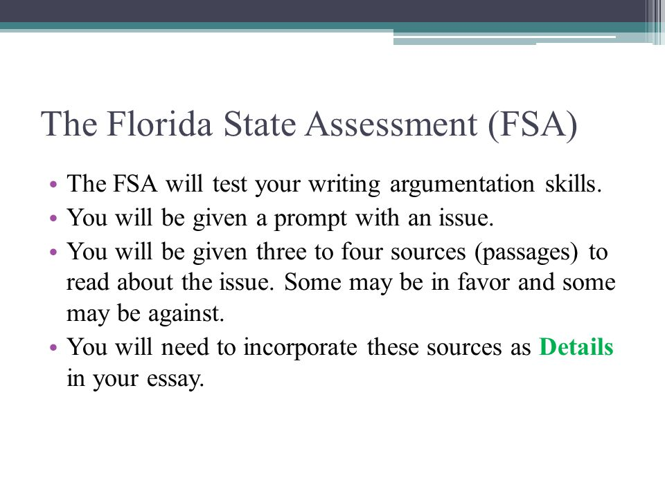 the argumentative essay ppt video online  the florida state assessment fsa
