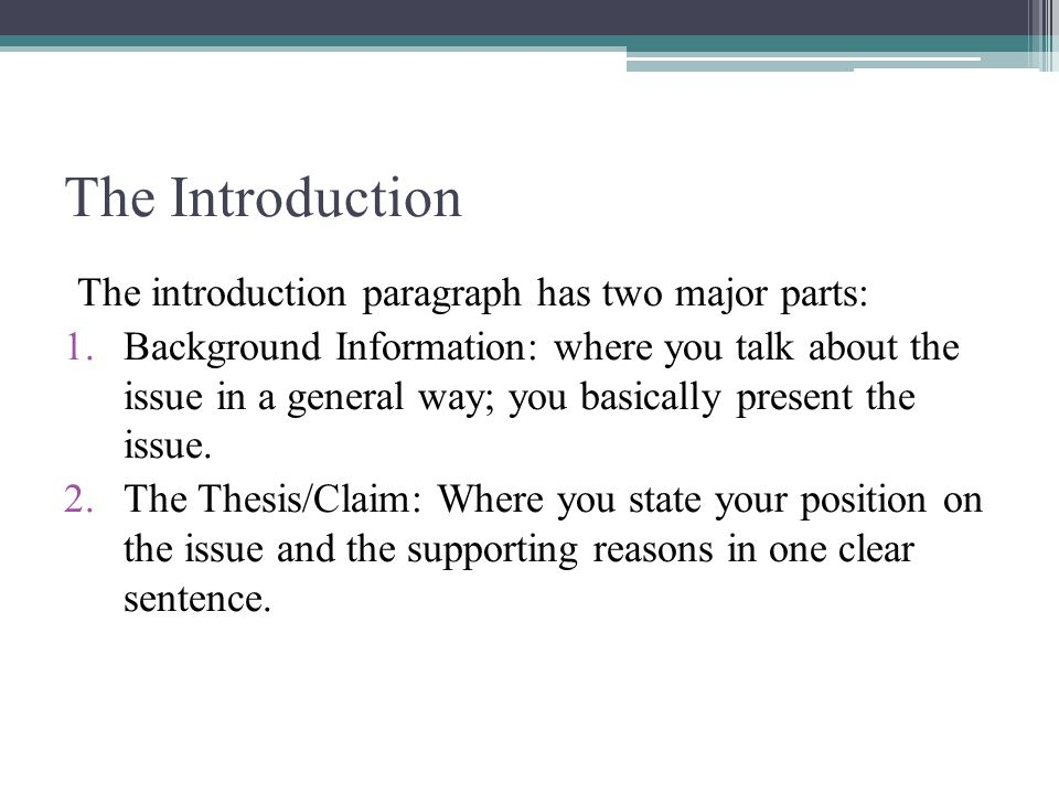 the argumentative essay ppt video online 5 the introduction