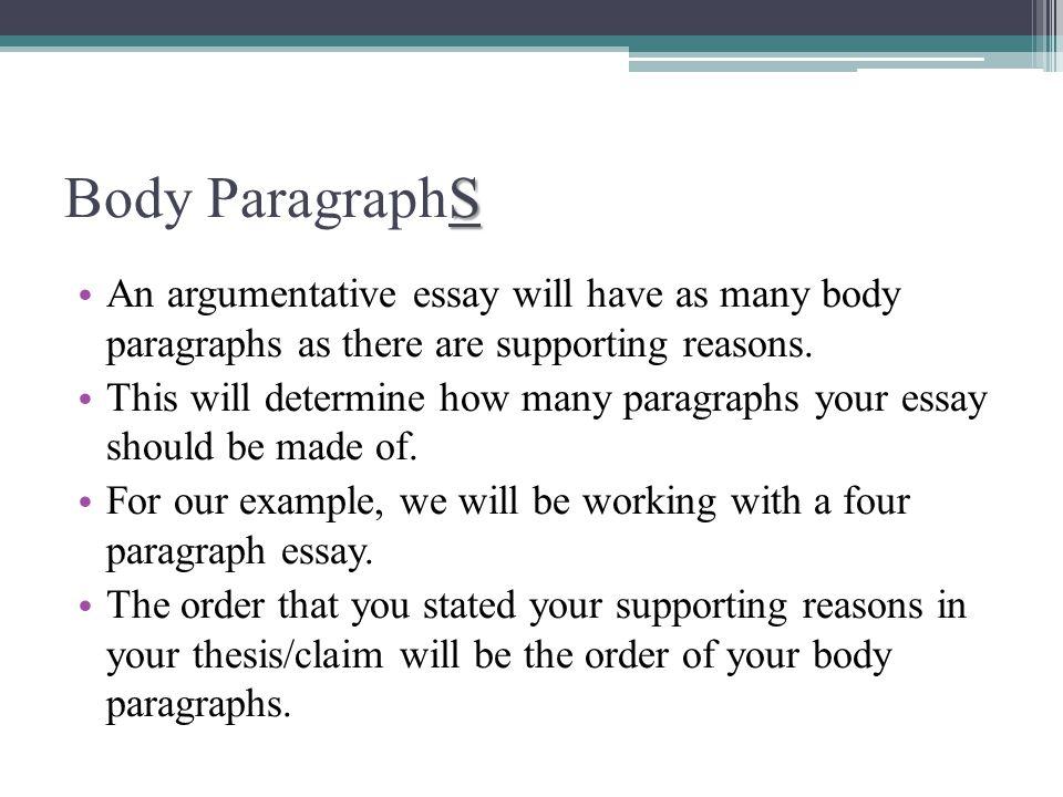 Essay argument order