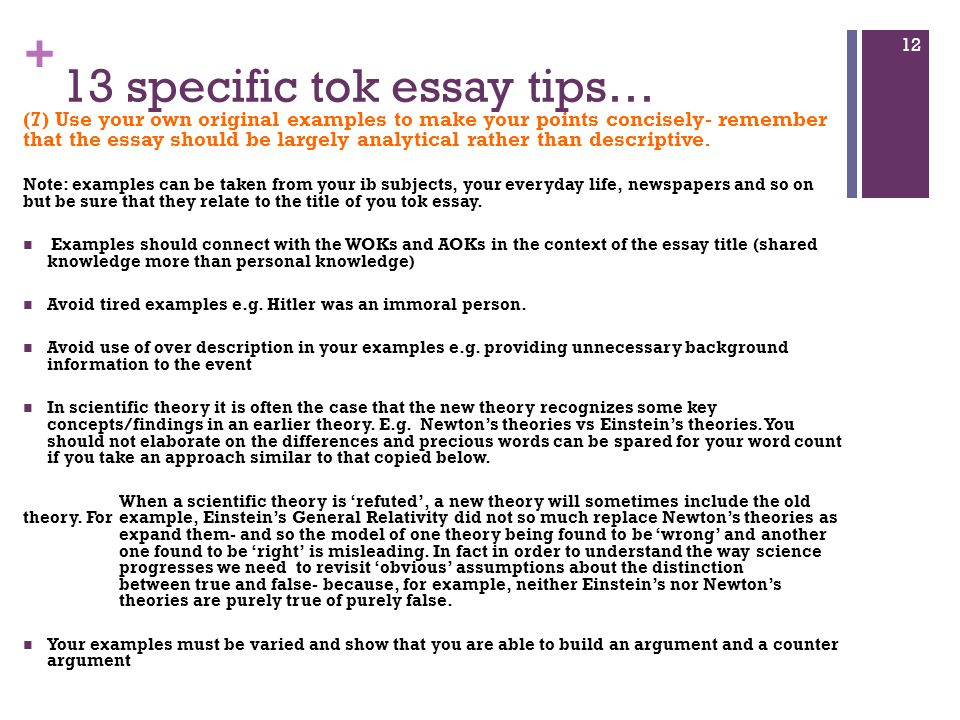 Tok essay counter argument