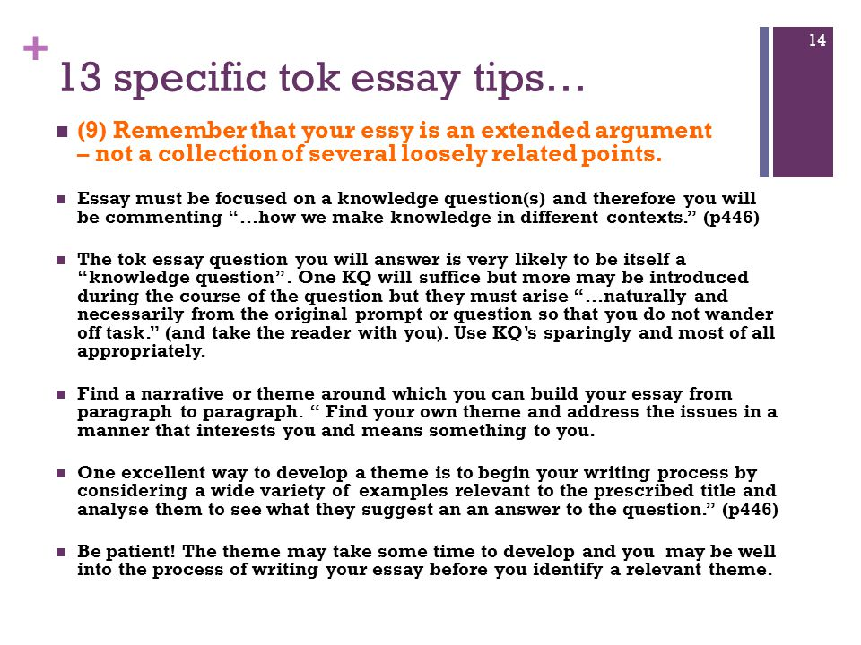 tok essay sample Tok sample essay - download as word doc (doc / docx), pdf file (pdf), text file (txt) or read online l.