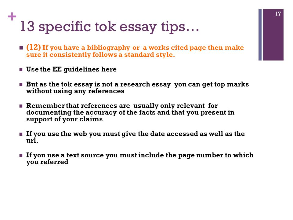 tok essay structure guide How to write a theory of knowledge (tok) essay standard academic essays and tok essays have significant differences in their structure and purpose you have to present your views asking a particular knowledge question and trying to find an answer to it.