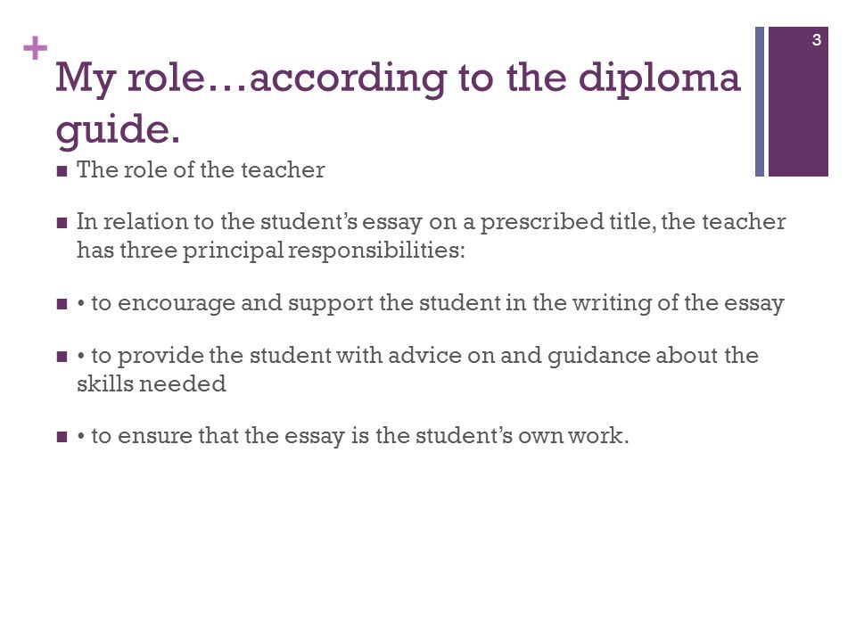 own role and responsiblities essay A brief evaluation of the different roles and responsibilities of a teacher /trainer  the different roles and responsibilities of a  each role with an.