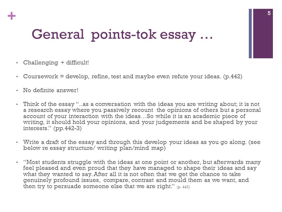 tok essay there are no absolute If i got a 10/10 on the presentation would it still be ok if i did extremely bad on the essay also today i discovered self:yes (or self:no) include (or exclude.