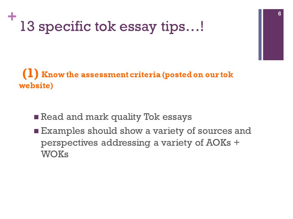 tok essay marking criteria Instant online access to the complete tok mastery program this suite of resources has been used by thousands of tok students to maximize their results on the tok essay, the tok presentation and for day-to-day help in the course.