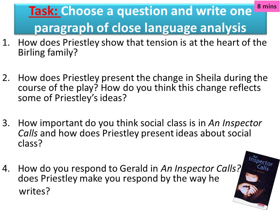 how does priestley show that tension is at the heart of the birling family Unit 1 section a exam questions 1 unit 1 higheran inspector calls how does priestley show that tension is at the heart of the birling family past question 14.
