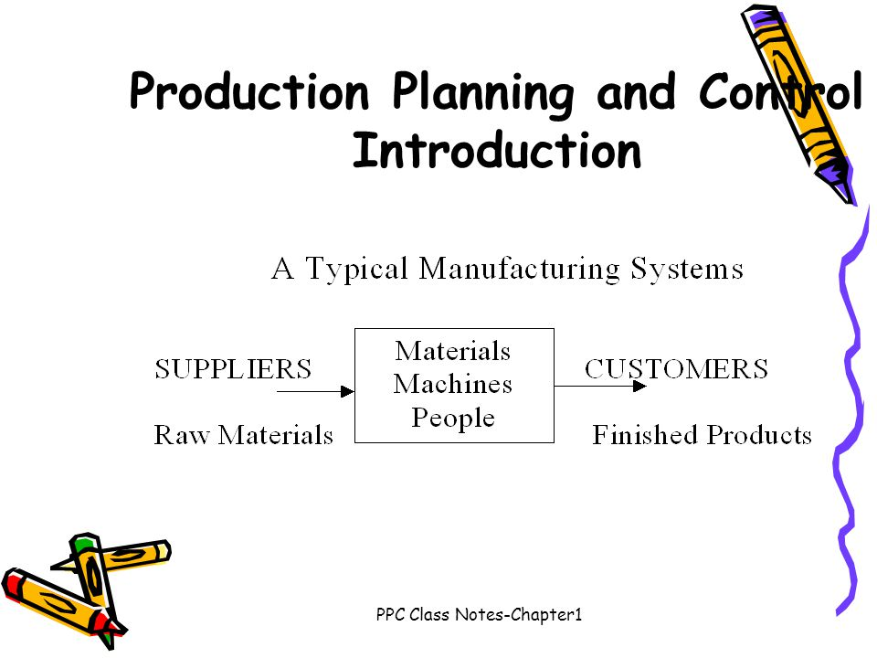 Production Planning and Control Introduction