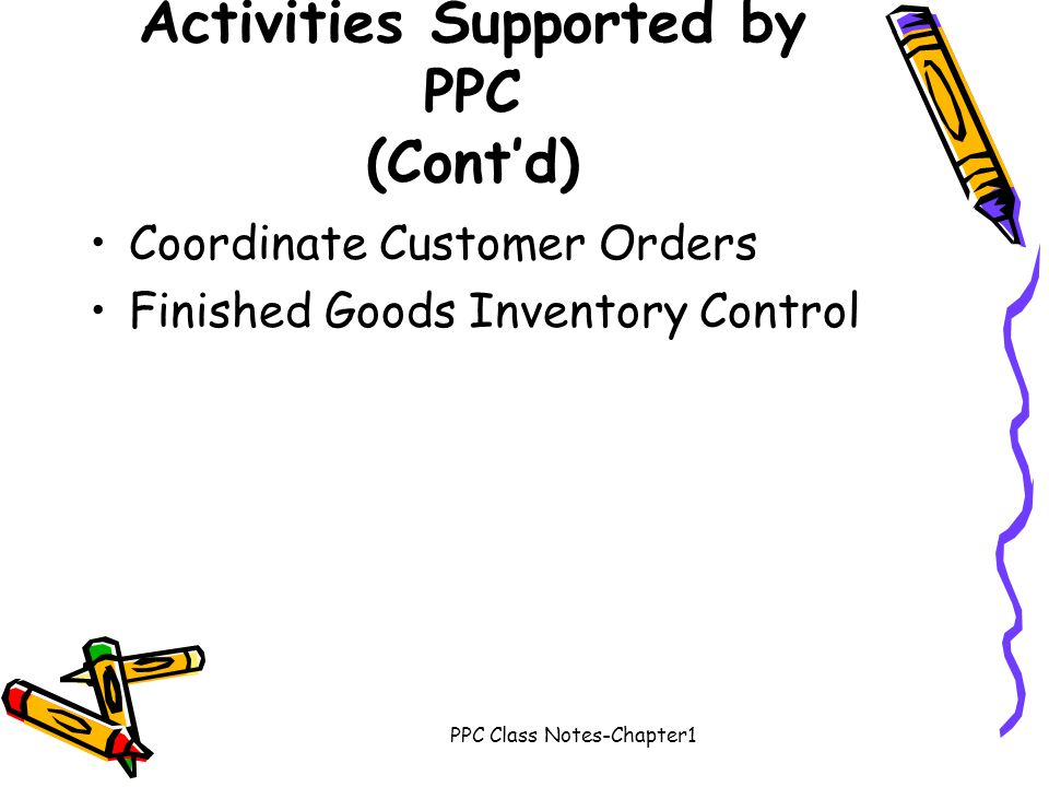 Activities Supported by PPC (Cont'd)
