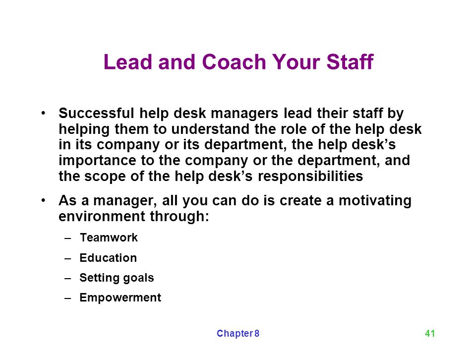Lead And Coach Your Staff