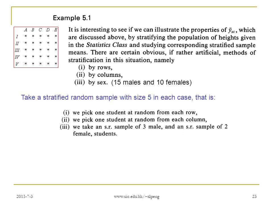 how to find a stratified random sample