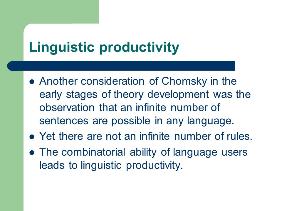 Linguistic productivity